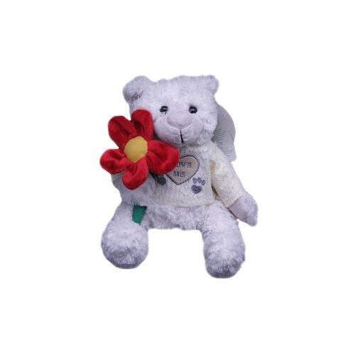 Купить Мягкая игрушка Magic Bear Toys Мишка Вильгельм в свитере с цветком 20 см, Мягкие игрушки