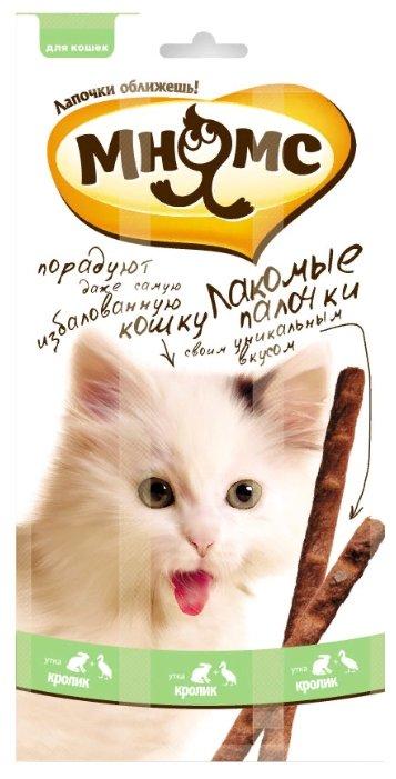 Лакомство для кошек Мнямс Лакомые палочки Утка, кролик