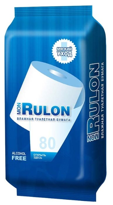 Влажная туалетная бумага Mon Rulon с экстрактом ромашки 50 шт.