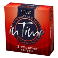 Презервативы in Time Ribbed 12 шт.