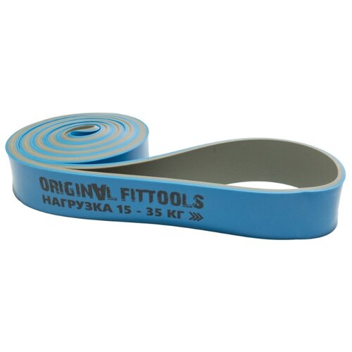 Эспандер лента Original FitTools петля (FT-DCL-32) 208 х 3.2 см синий/серый