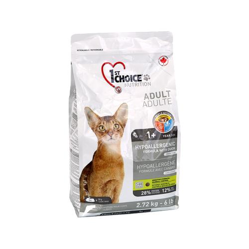 Сухой корм для кошек 1st Choice с уткой 2.72 кг