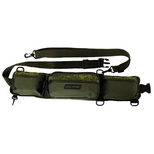 Поясная сумка для охоты, для рыбалки SOLARIS S5404 65х7х13.5см пиксель/олива