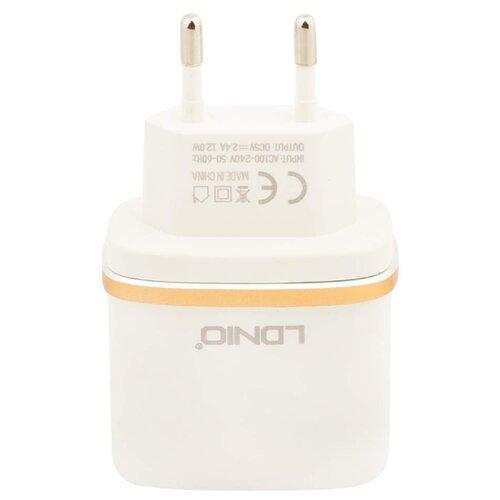 Купить Сетевая зарядка LDNIO DL-AC52 + Micro USB белый