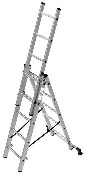 Лестница телескопическая 3-секционная ОЛИМП 1230305 A