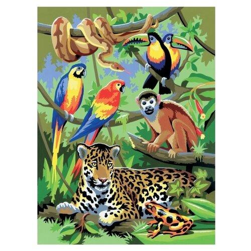 Купить Royal & Langnickel Раскраска по номерам В джунглях 22х30 (PJS 28), Картины по номерам и контурам