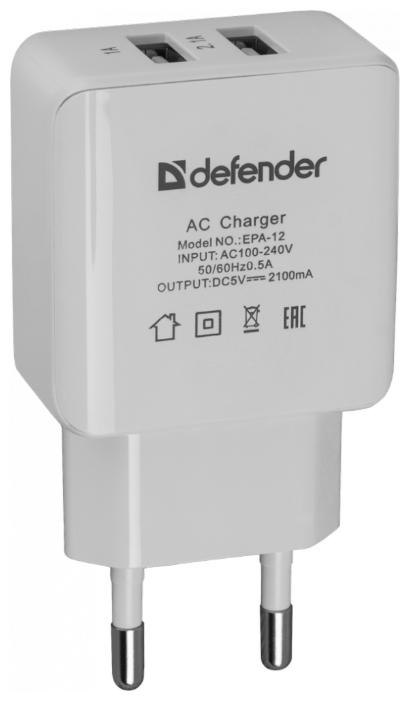 Сетевая зарядка Defender EPA-12
