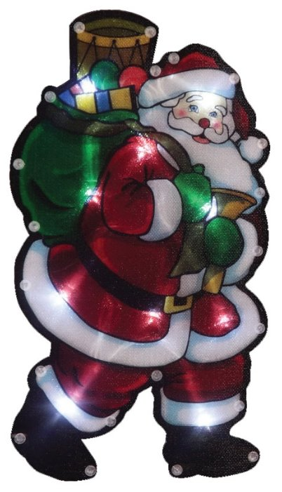 Панно Волшебная страна Дед мороз с мешком подарков (986103)