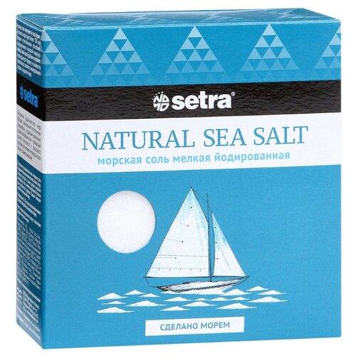 Setra Соль морская йодированная мелкая, 500 гСоль<br>