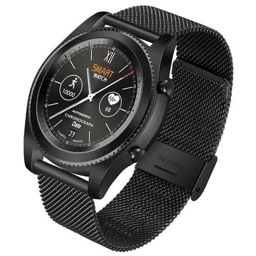 Купить Часы NO.1 S9 черный/стальной