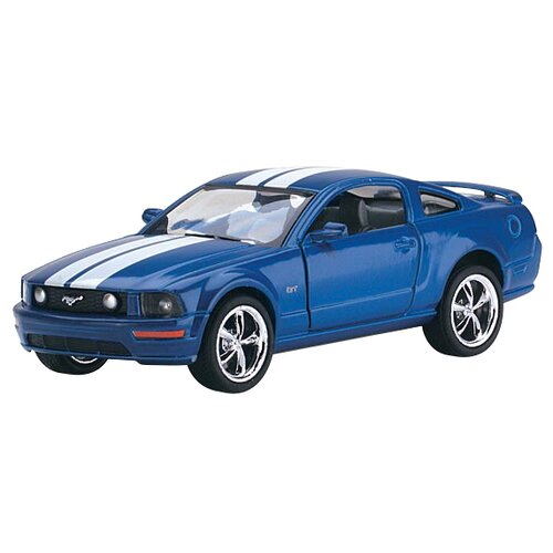 Легковой автомобиль Kinsmart 2006 Ford Mustang GT (KT5091WF) 1:38 12 см синий
