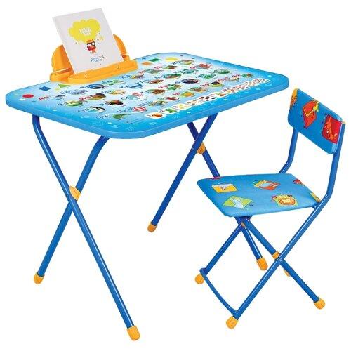 Купить Комплект Nika Азбука (NK-75/1) 55x76 см синий/голубой/оранжевый, Парты и столы
