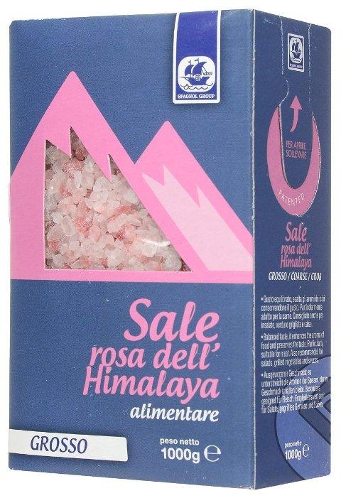 SPAGNOL GROUP Пищевая соль розовая гималайская крупная, 1000 г