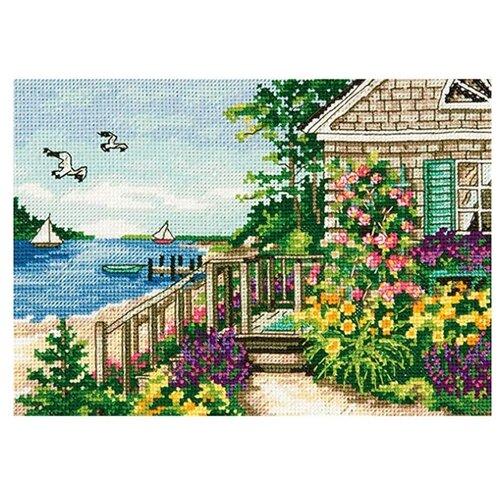 Купить Dimensions Набор для вышивания крестиком Домик на берегу бухты 18 х 13 см (70-65145), Наборы для вышивания