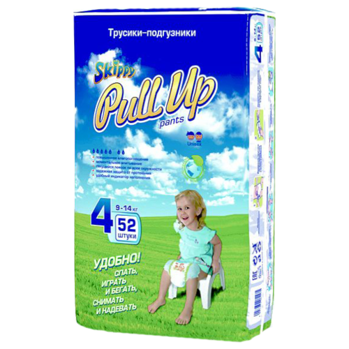 Skippy трусики Pull Up 4 (9-14 кг) 52 шт.