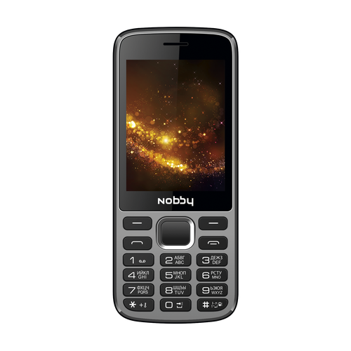 Телефон Nobby 300 серый / черный