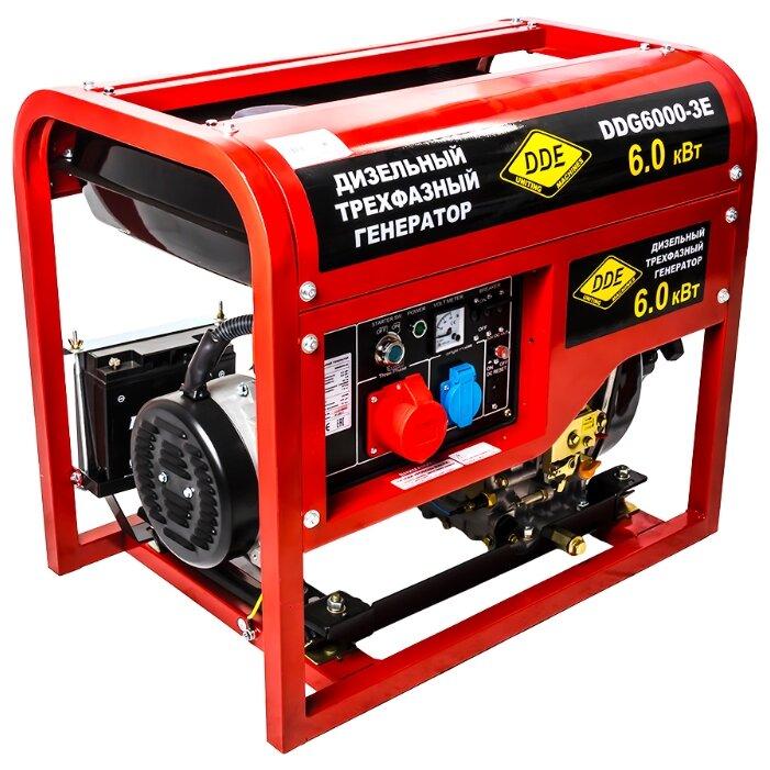 Дизельный генератор DDE DDG6000-3E (5000 Вт)