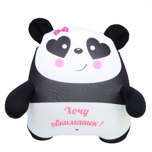 Купить Игрушка-антистресс Штучки, к которым тянутся ручки Плюшка Панда с глазами-сердечками 35 см, Мягкие игрушки