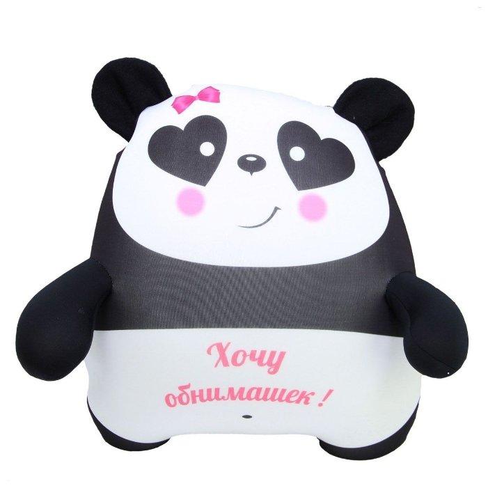 Игрушка-антистресс Штучки, к которым тянутся ручки Плюшка Панда с глазами-сердечками 35 см — цены на Яндекс.Маркете