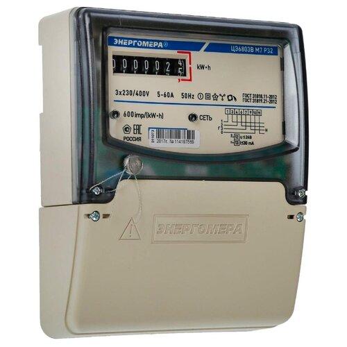 Энергомера ЦЭ6803В 1 230В 5-60А 3ф.4пр. М7 Р32Счетчики электроэнергии<br>