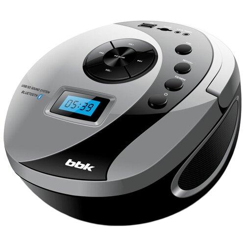 Магнитола BBK BS10BT черный/серый