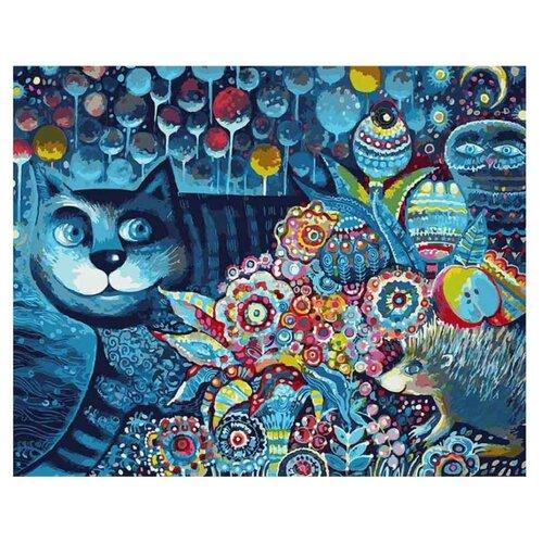 Белоснежка Картина по номерам Индиго кот 40х50 см (083-AB) белоснежка картина по номерам кутерьма 40х50 см 221 ab