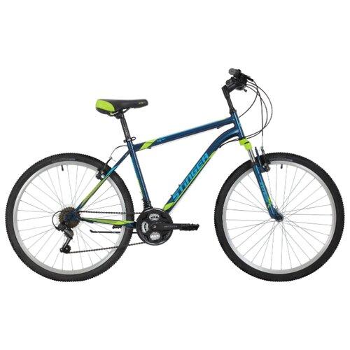 Горный (MTB) велосипед Stinger Caiman 26 (2018) синий 16 (требует финальной сборки) велосипед stinger cruiser l 26 рама 16 5 синий 1 скорость