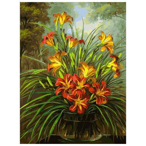 Белоснежка Картина по номерам Букет из лилий 30х40 см (260-AS), Картины по номерам и контурам  - купить со скидкой