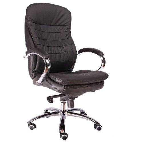 Фото - Компьютерное кресло Everprof Valencia M для руководителя, обивка: натуральная кожа, цвет: черная кожа компьютерное кресло everprof drift m для руководителя обивка натуральная кожа цвет коричневый