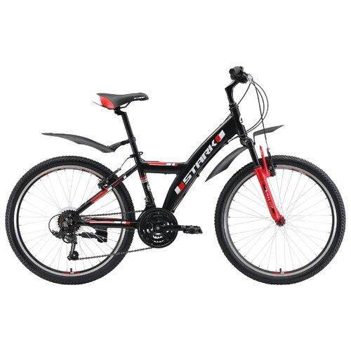 Подростковый горный (MTB) велосипед STARK Rocket Y 24.1 V (2019) черный/красный (требует финальной сборки) горный mtb велосипед format 1214 29 2020 темно синий m требует финальной сборки