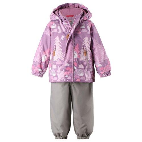 Купить Комплект с полукомбинезоном Reima размер 92, 5189 heather pink, Комплекты верхней одежды