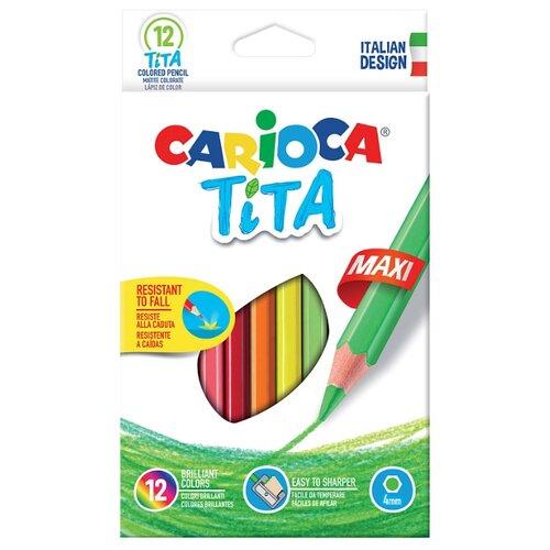 Купить Carioca набор цветных карандашей Tita Maxi 12 цветов (42789), Цветные карандаши