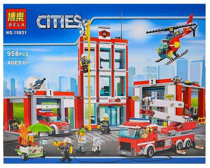 Конструктор BELA (Lari) Cities 10831 Пожарная часть