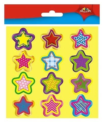 Апплика Наклейки поощрительные для школы и детского сада Звездочки, 36 шт. (С3364)