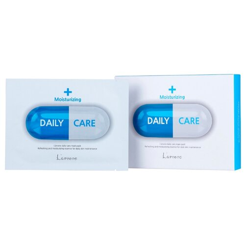 Larvore Тканевая маска для лица с гиалуроновым комплексом Daily Care Mask Moisturizing, 25 г, 5 шт.Маски<br>