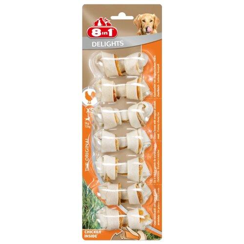 Лакомство для собак 8 In 1 Delights Косточки XS (7.5 см), 7 шт. в уп.Лакомства для собак<br>
