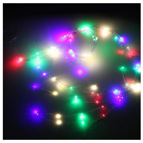 Гирлянда Sh Lights Лучи, 200 см, LDMS120-BL6, 120 ламп, разноцветные диоды/прозрачный провод