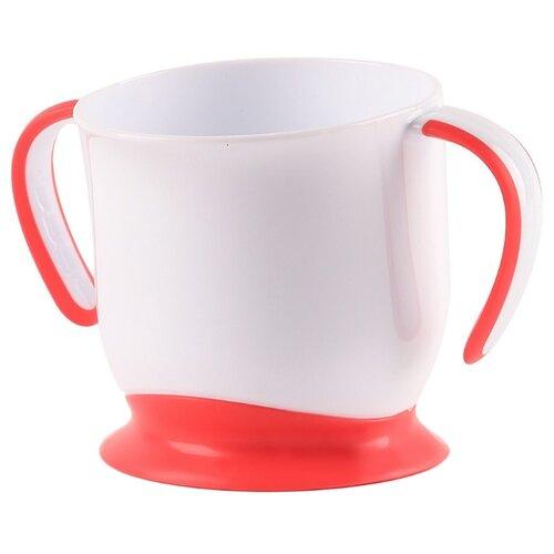 кружка на присоске happy baby baby cup with suction base 15022 red Чашка Happy Baby на присоске (15022) ruby