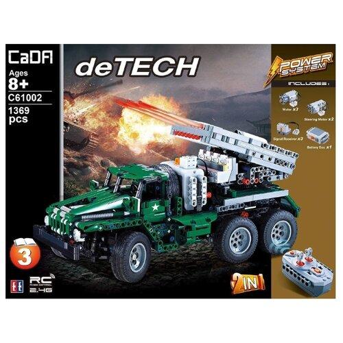 Конструктор Double Eagle CaDA deTECH C61002W Боевая машина Катюша конструктор cada detech порше 918 421 деталь