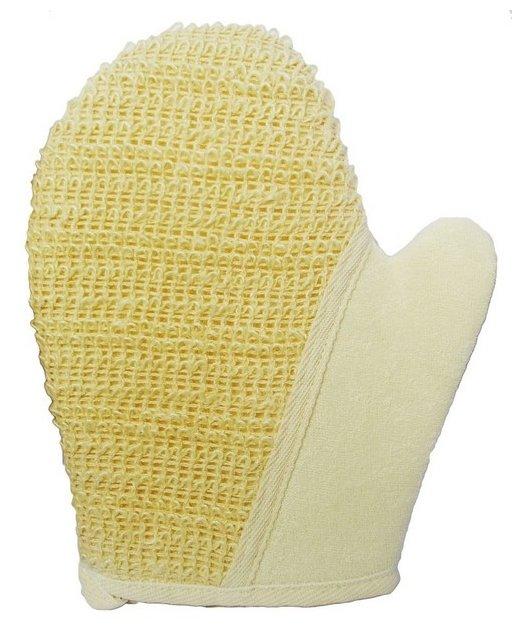 Мочалка Beauty format рукавица среднего плетения из крапивы и хлопка (45462-8039)