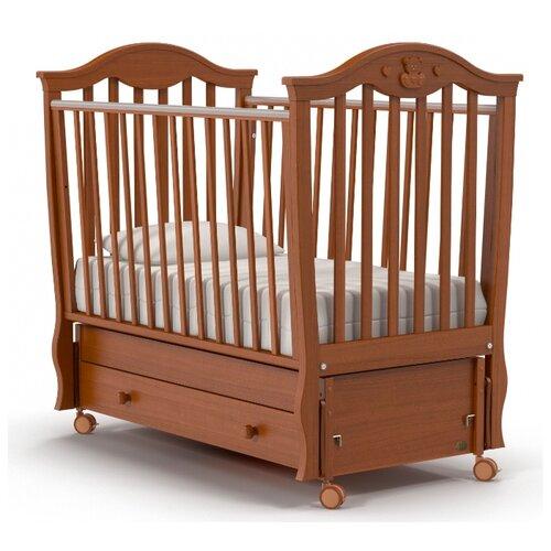 Купить Кроватка Nuovita Sorriso (качалка), продольный маятник темный орех, Кроватки