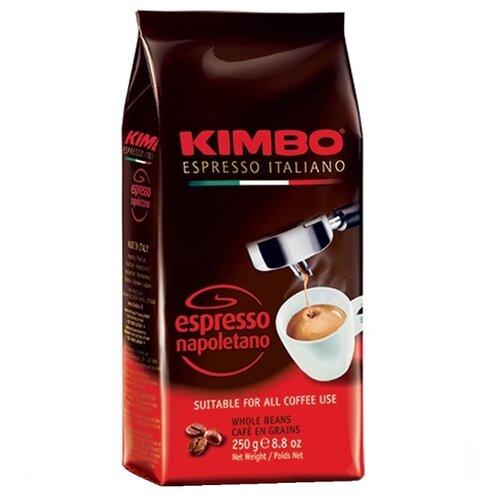 Кофе в зернах Kimbo Espresso Napoletano, арабика/робуста, 250 г кофе в зернах kimbo espresso bar prestige 1000