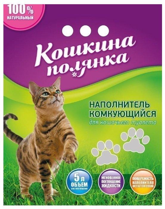 Наполнитель Кошкина Полянка Бентонитовый (3 кг)