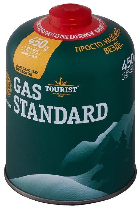 Газовый баллон Tourist Gas Standart 450 г, TBR-450, резьбовой, всесезонный