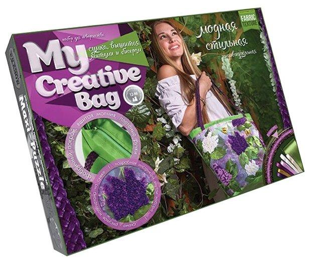 Danko Toys Набор для вышивания гладью, лентами и бисером My creative bag Сирень (MCB-01-02)