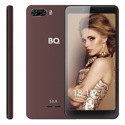 Смартфон BQ 5520L Silk коричневый смартфон