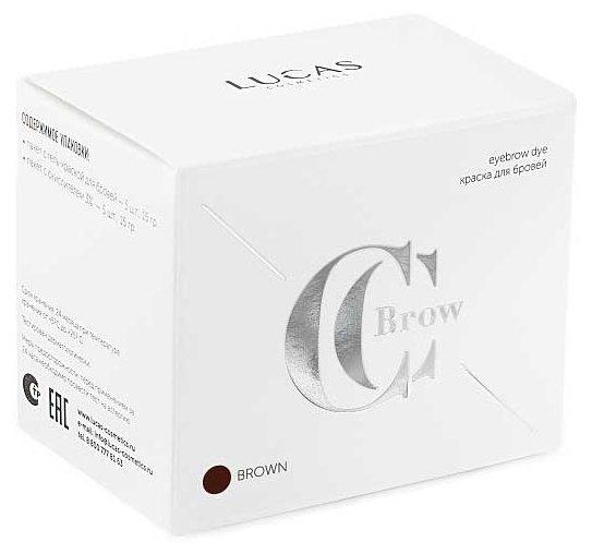 Ccb - Гель-краска для бровей и ресниц - Коричневая (на 1 процедуру) - CC Brow