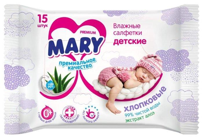 Влажные салфетки Mary с экстрактом алоэ