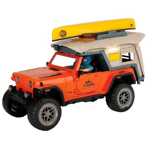 Набор техники Dickie Toys Playlife Camping (3835004) 1:24 оранжевый/желтый/бежевый dickie светофор набор дорожных знаков 24 см 3741001