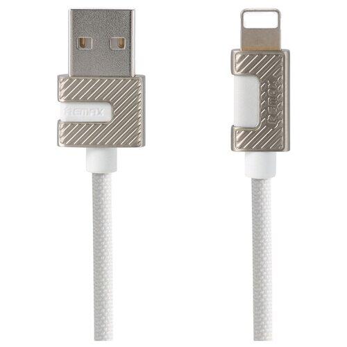 Кабель Remax Metal Series USB - Apple Lightning (RC-089i) 1 м белыйКомпьютерные кабели, разъемы, переходники<br>